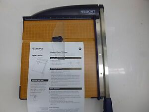 New Westcott Guillotine Paper Cutter 12 In Abs Base 13777