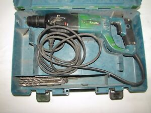 Makita Rotary Hammer Drill Hr2455 With Plastic Carrying Case Exra Drill Bits