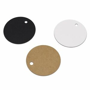 Brown Black White Rounded Oval Kraft Paper Tags Shipping Clothes Price Labels