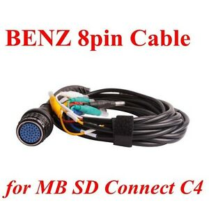 High Quality Benz 8pin Cable For Mb Sd Connect Compact 4 Star Diagnosis 8pin Obd