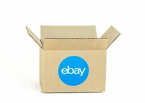 New Ebay branded Boxes With Blue 2 color Logo 6 X 4 X 4