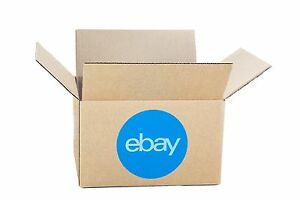 New Ebay branded Boxes With Blue 2 color Logo 8 X 6 X 4