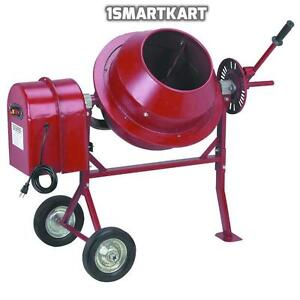 1 1 4 Cu Ft Electric Cement Concrete Stucco Mixer