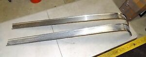 1956 56 Pontiac Chieftain Waterfall Stainless Hood Trim Set Rh Lh