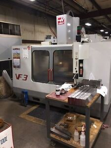 Used Haas Vf 3 Cnc Vertical Machining Center Mill 4th Ready P cool Rigid Tap 99