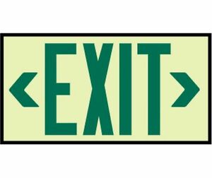 New National Marker 7220 Glow Green Exit Sign