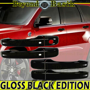 For 2011 2019 Jeep Grand Cherokee Dodge Durango Gloss Black Door Handle Cover Sk