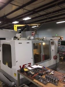 Used Haas Vf 3 Cnc Vertical Machining Center Mill 4th Ready P cool Rigid Tap 00