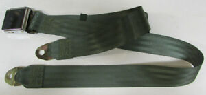 Jeep Vintage Non Retractable Lap Seat Belt Military Olive Drab Green 60