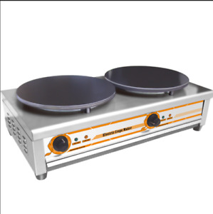Pancake Pan Double Electric Griddle Machine Commercial Crepe Maker 220v 5 5kw