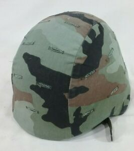 US ARMY ISSUE PASGT BALLISTIC KEVLAR HELMET SIZE extra small with camo cover