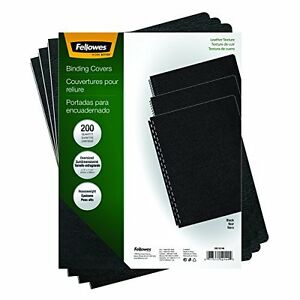 Fellowes Executive Binding Presentation Covers Oversize Letter Black 200 P