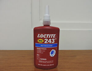 Loctite 243 Medium Strength Blue Threadlocker Adhesive 1329505 250 Ml