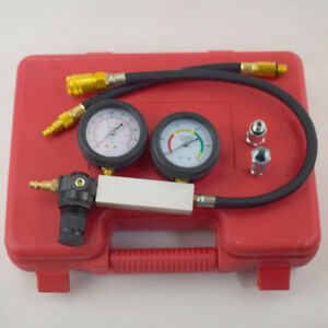 Cylinder Leak Down Tester Leak Detector Engine Compression Tester Gauge Accurate