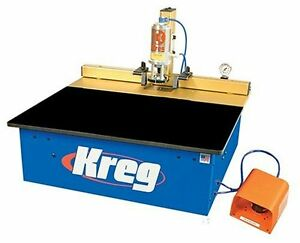 Kreg Dk1100 Tp 1 1 4 Hp Bench Pnuematic Fully auto Single Spindle Pocket Machine