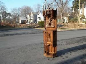 Beautiful Original Walnut Gothic Carved Server Church Cabinet Dr57