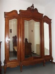 Beautiful Monumental Carved Walnut Original Italian Antique Armoire 13it049a