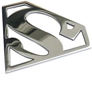Grille Badge Emblem Billet Superman Logo Aluminum Polish Finish Usa Made