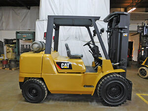 2008 Cat Caterpillar Gp45k 10000lb Pneumatic Forklift Lpg Lift Truck Hi Lo