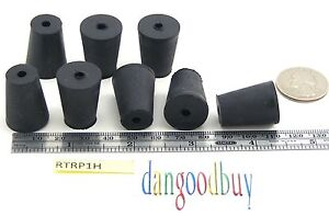 100 Rubber Stoppers Laboratory Stoppers Size 1 With Single Hole corks