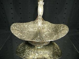 Barbour International Silver Company Dutch Repousse Basket