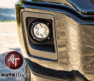 Apu 2007 2013 Chevy Avalanche Clear Led Bumper Fog Lights Driving Lamps Set