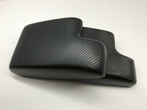 Bmw E36 1992 1999 Armrest center Console Cover black Carbon Fiber