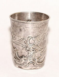 Rare Antique 1787 Russian Silver Beaker Cup
