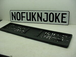 No Fukn Joke European License Plate Genuine Vw Bmw Mercedes Bmw Porsche Mini