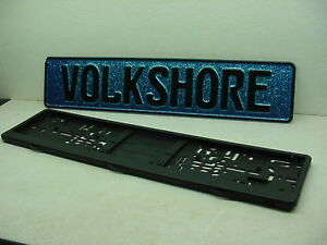 Volk Shore European License Plate Genuine Vw Bmw Mercedes Bmw Porsche Mini