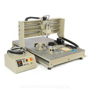 1 5kw 4axis Usb 6090 Vfd Cnc Router Engraver Engraving Mill Machine Woodworking