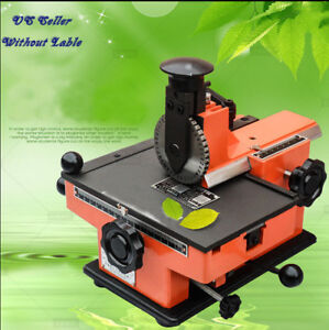 Semi automatic Metal Stamp Sheet Embosser Label Mark Printer Without Letterwheel