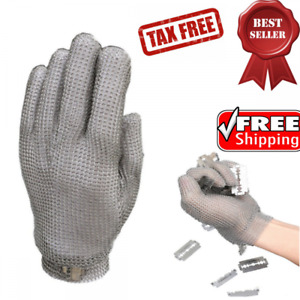 Protective Glove Stainless Steel Mesh Knife Cut Resistant Kitchen Butcher 304l