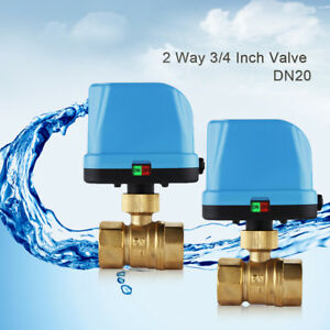 Dn20 G3 4 2way 220v Motorized Electrical Ball Valve Led Light Ip65 Waterproof