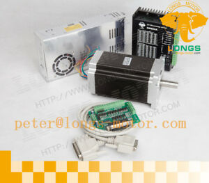 Suprior Nema 34 Stepper Motor 1600oz in Single Shaft D14mm driver 1 Axis Kit