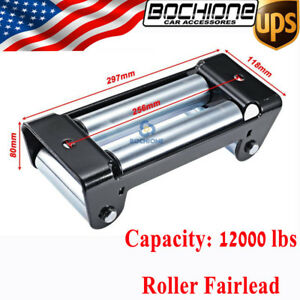 Winch Roller Fairlead 10 Universal 4 Way Guide For Steel Recovery Winch Cable