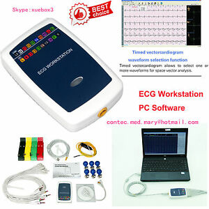 Contec Ecg Workstation System portable 12 lead Resting Pc Based Ekg Machine