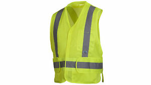 New Pyramex Rca2510m Rca25 Series Lime Safety Vest