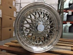 15 Rs Style Wheels Rims Hyper Dark 4 Lug 4x100 114 3 4x4 5 Brand New Set Of 4