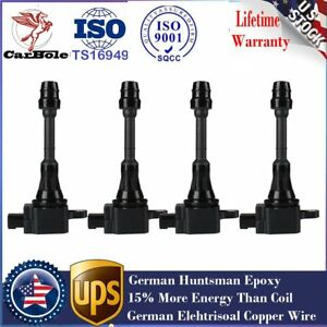 Pack Ignition Coil For 2002 2007 Nissan Altima Sentra X trail L4 2 5l Uf350 4pcs