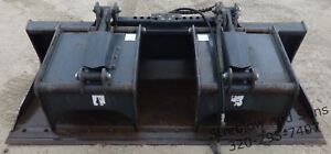 Virnig V60 84 Skidsteer Dual Jaw Scrap Grapple Bucket Attachment