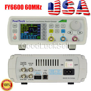 Fy6600 60mhz Dual Channel Dds Function Signal Generator Waveform 20vpp Us Ship