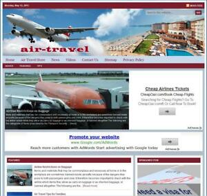 air Travel Turnkey Website For Sale turnkeypages