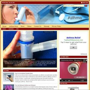 asthma Turnkey Niche Website For Sale turnkeypages