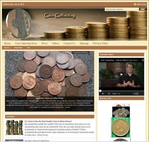 coin Collecting Turnkey Website For Sale turnkeypages