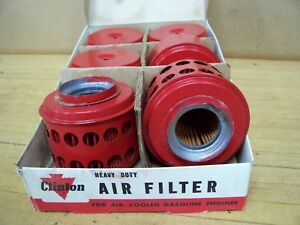 Vintage Old Nos Clinton Gas Engine 6 Air Filter Cleaner Display Box