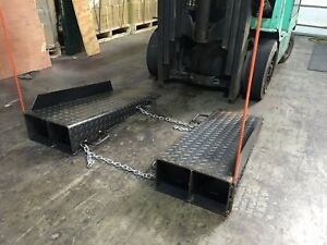 Ramps For A Forklift To Enter A Sea Container Storage Trailer
