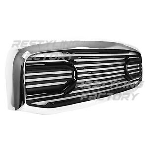 Front Hood Black Big Horn Replacement Grille chrome Shell For 06 09 Dodge Ram