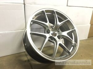 20 Hyper Silver Gtr Vortex Style Staggered Wheels Rims Fits 2015 Ford Mustang