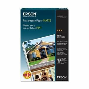 Epson Open Printers And Ink S041070 100sht 11x17 A3 Presentation